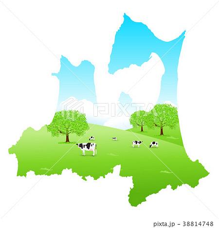 青森 牛 地図 牧場  38814748