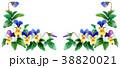 フレーム 花 水彩のイラスト 38820021