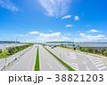 道路 風車 空の写真 38821203