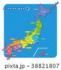 日本地図 日本 地図のイラスト 38821807