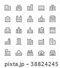 Mini Icon set – Building icon vector illustration 38824245