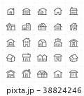 Mini Icon set – Home icon vector illustration 38824246