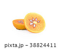 persimmon on white background 38824411