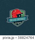 ロゴマーク ベースボール 白球のイラスト 38824764