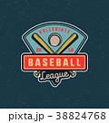 ロゴマーク ベースボール 白球のイラスト 38824768