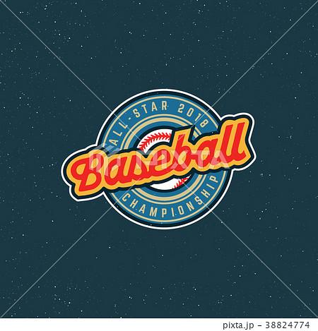 vintage baseball logo. retro styled sport emblem 38824774