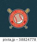 ロゴマーク ベースボール 白球のイラスト 38824778