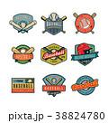 ロゴマーク ベースボール 白球のイラスト 38824780