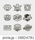 ロゴマーク ベースボール 白球のイラスト 38824781