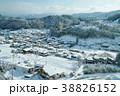 岐阜県高山市の風景、冬景色 38826152
