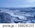 岐阜県高山市の風景、冬景色 38826155