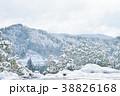 岐阜県高山市越後町の冬の景色 38826168