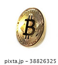 Bitcoin coin photo close-up. Crypto currency 38826325