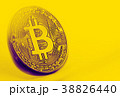 Bitcoin coin photo close-up. Crypto currency 38826440