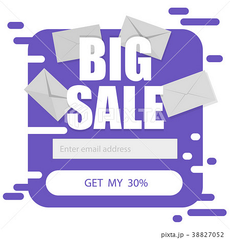 vector template for email subscribe in purple on aのイラスト素材