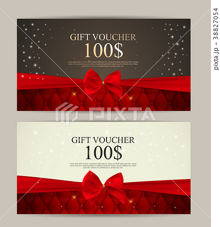 gift voucher template for your business vectorのイラスト素材