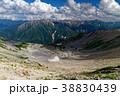 北アルプス・薬師岳山頂から見るカールと赤牛岳・水晶岳方面 38830439