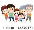 家族 三世代家族 6人家族のイラスト 38830471