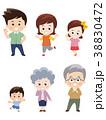 家族 三世代家族 6人家族のイラスト 38830472