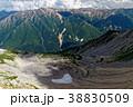 北アルプス・薬師岳山頂から見るカールと赤牛岳・野口五郎岳方面 38830509