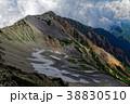 北アルプス・薬師岳山頂から見る北薬師岳とカール 38830510