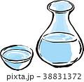 日本酒 酒 お猪口のイラスト 38831372