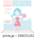 システムキッチン 台所 主婦のイラスト 38833162