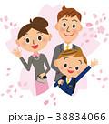 入学式 男の子 親子 38834066
