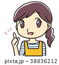 指差し 提案 女性のイラスト 38836212