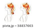 女性 横顔 美容のイラスト 38837663