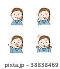 オペレーター 表情 セットのイラスト 38838469