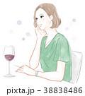 ワインを飲む女性 38838486