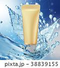 クリーム ウォーター 水のイラスト 38839155