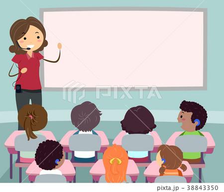 Stickman Kids Teacher Fm Transmitter Board  38843350