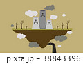 Floating Island Factory Pollution Illustration 38843396