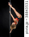 beautiful pole dancer in red top on pylon 38843531