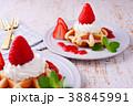 イチゴのワッフルケーキ 38845991