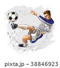 サッカー ベクトル 選手のイラスト 38846923