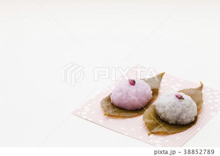 可愛いさくら餅 春の和菓子 38852789