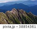 奥穂高岳から見る明神岳の稜線 38854361