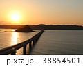 夕日 橋 角島大橋の写真 38854501