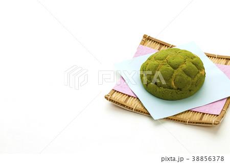 抹茶のメロンパン 38856378