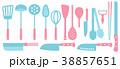 北欧風キッチンツールアイコン 38857651