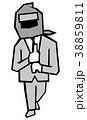 ドロンするビジネスマン 38859811