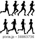 ランナー 走者 ベクトルのイラスト 38863736