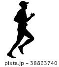 ランナー 走者 マラソンのイラスト 38863740