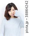 若い女性 ヘアスタイル 38864242