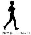ランナー 走者 マラソンのイラスト 38864731