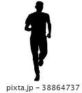 ランナー 走者 マラソンのイラスト 38864737