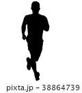 ランナー 走者 マラソンのイラスト 38864739